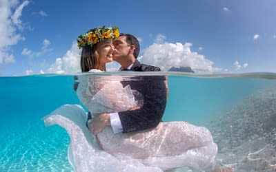 Trash the Dress in Bora Bora