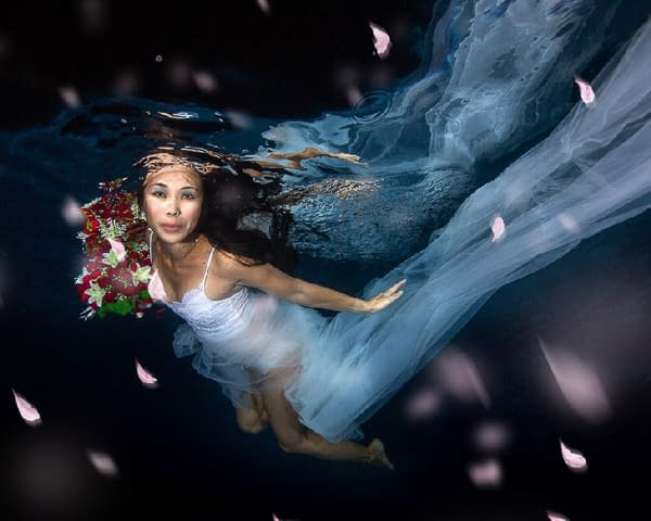 Night Fashion Aquatic Photography
